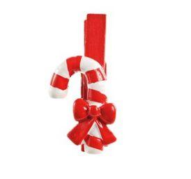 Prendedor Branco Candy - 06 unidades - Cromus Natal - Rizzo Embalagens