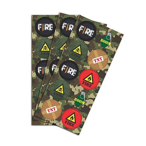 Adesivo Redondo - Festa Free Fire - 30 Unidades - Junco - Rizzo Festas