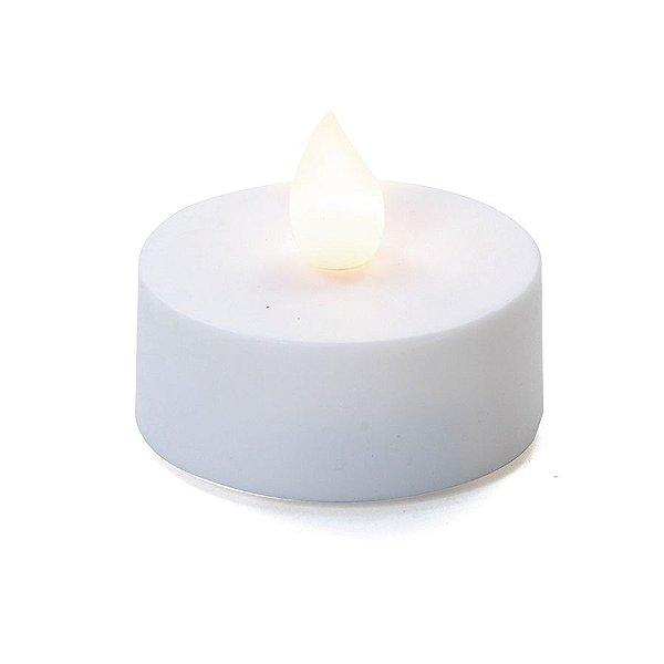 Vela Eletrônica Tealight Branca a Pilha 5cm - 08 unidades - Cromus Natal - Rizzo Embalagens