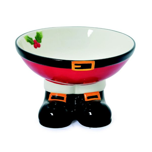 Bowl de Cerâmica Pernas Noel 10cm - 01 unidade - Cromus Natal - Rizzo Embalagens