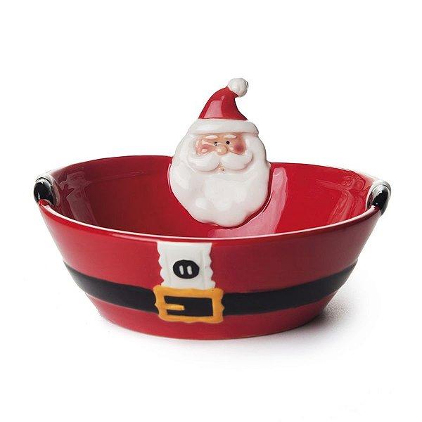 Bowl de Cerâmica Vermelho Noel 15cm - 01 unidade - Cromus Natal - Rizzo Embalagens