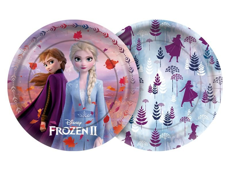 Prato 18cm Festa Frozen 2 - 8 unidades - Regina - Rizzo Festas
