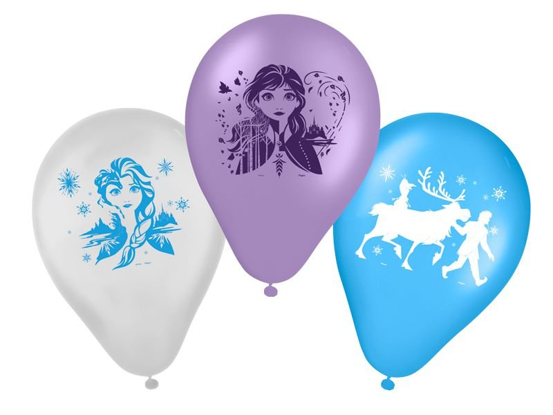 "Balão Latex 9"" Festa Frozen 2 - 25 unidades - Regina - Rizzo Festas"