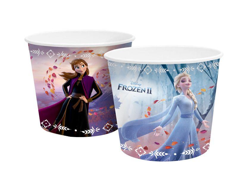 Balde para Pipoca 980ml Festa Frozen 2 - 4 unidades - Regina - Rizzo Festas