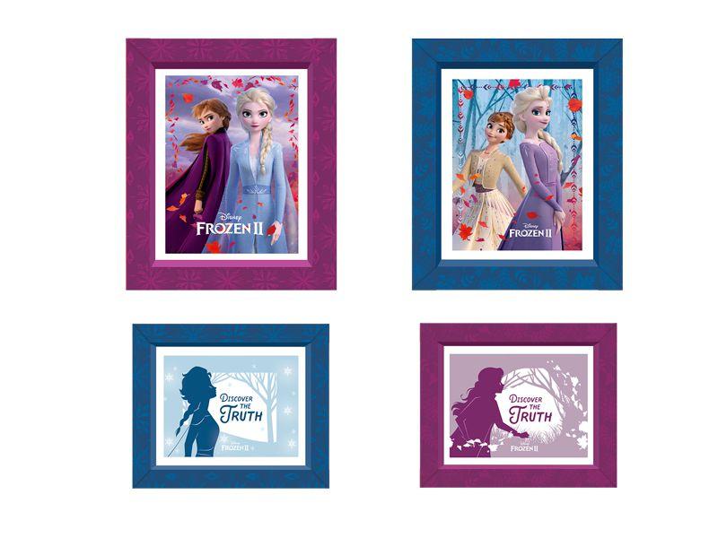 Quadrinhos Decorativos Festa Frozen 2 - 4 unidades - Regina - Rizzo Festas