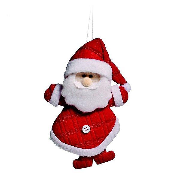 Mini Boneco Papai Noel Vermelho 10cm - 06 unidades - Cromus Natal - Rizzo Embalagens