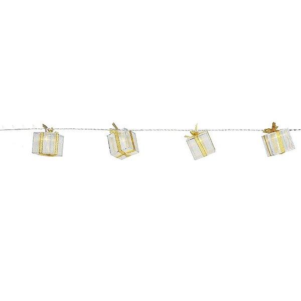 Cordão de Led  Presentes 20 leds a Pilha - 01 unidade - Cromus Natal - Rizzo Embalagens