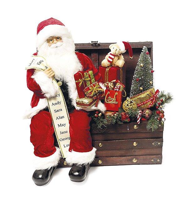 Noel e Rena com Som e Movimento 80cm - 01 unidade - Cromus Natal by  Cecília Dale - Rizzo Embalagens