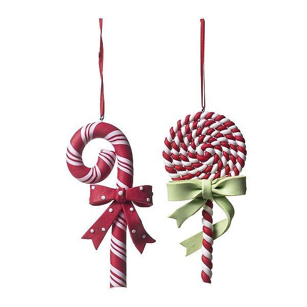Enfeite para Pendurar Pirulito Candy 12cm - 01 unidade - Cromus Natal by  Cecília Dale - Rizzo Embalagens