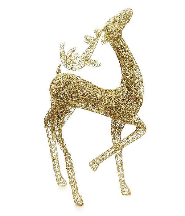 Rena Dourada para Decoração 1,10m - 01 unidade - Cromus Natal - Rizzo Embalagens