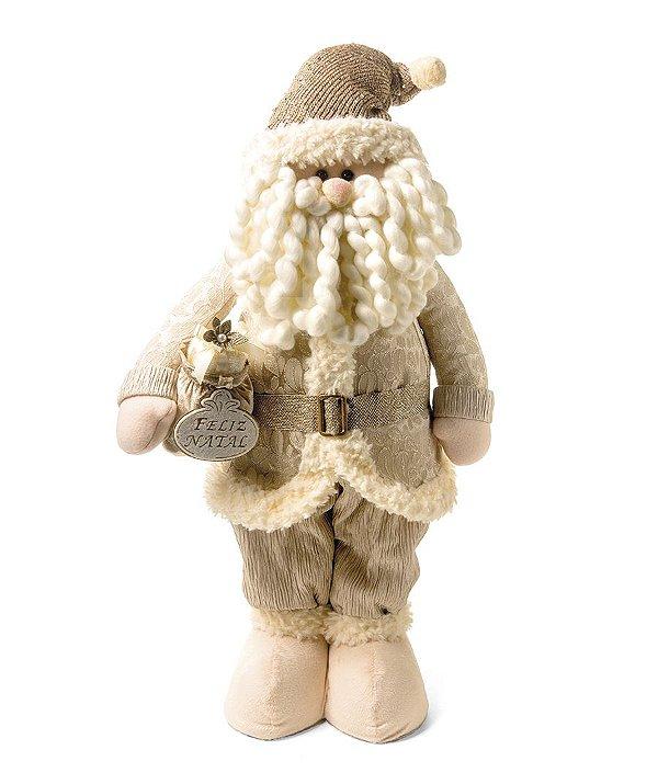 Noel em Pé com Presente Nude 60cm - 01 unidade - Cromus Natal - Rizzo Embalagens