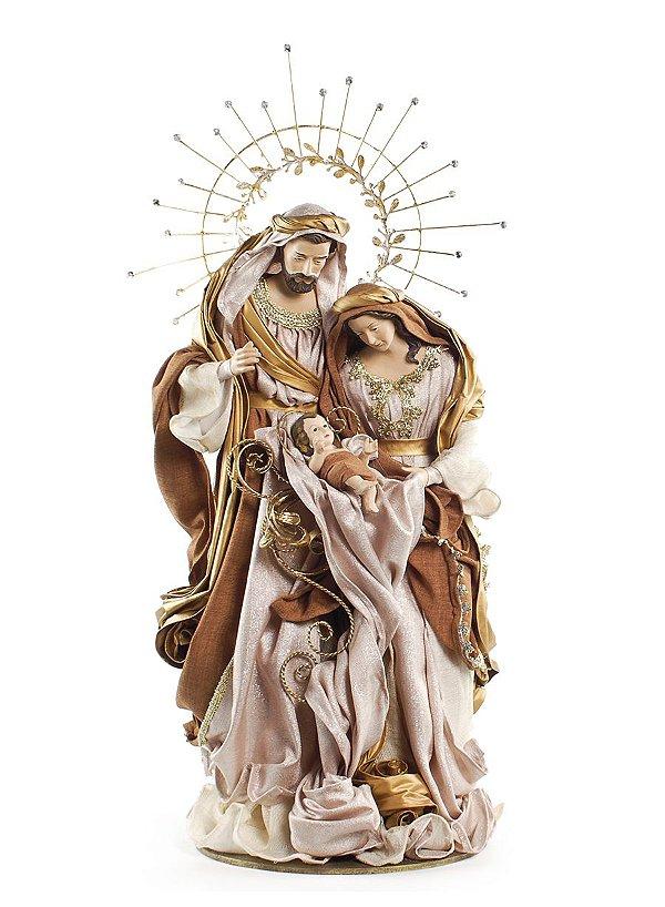 Sagrada Família em Tecido 80cm - 01 unidade - Cromus Natal - Rizzo Embalagens