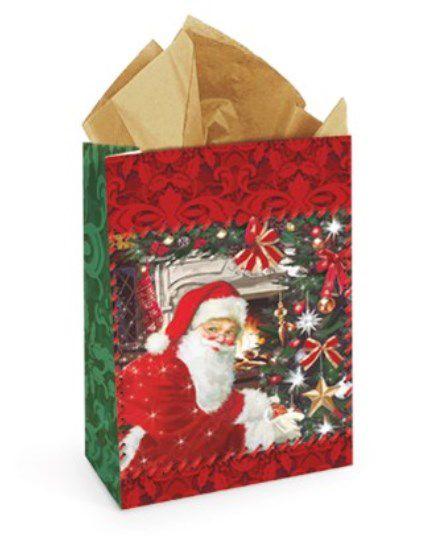 Sacolete  de Papel para Lembrancinha Tempo de Natal 14x10x5,5cm - 10 unidades - Cromus Natal - Rizzo Embalagens