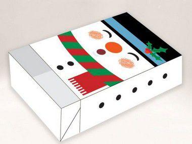 Caixa Divertida para 6 doces Boneco de Neve Ref. 721 - 10 unidades - Erika Melkot Rizzo Embalagens