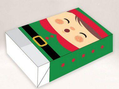 Caixa Divertida para 6 doces Duende Ref. 722 - 10 unidades - Erika Melkot Rizzo Embalagens