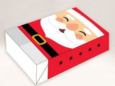 Caixa Divertida para 6 doces Papai Noel Ref. 723 - 10 unidades - Erika Melkot Rizzo Embalagens
