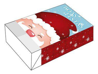 Caixa Divertida para 6 doces Papai Noel Boas Festas Ref. 1161 - 10 unidades - Erika Melkot Rizzo Embalagens