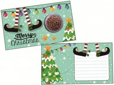 Cartão Blister Natal Bota Duende Ref. 777 - 10 unidades - Erika Melkot Rizzo Embalagens