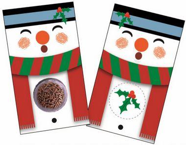Cartão Blister Natal Boneco de Neve  Ref. 782 - 10 unidades - Erika Melkot Rizzo Embalagens