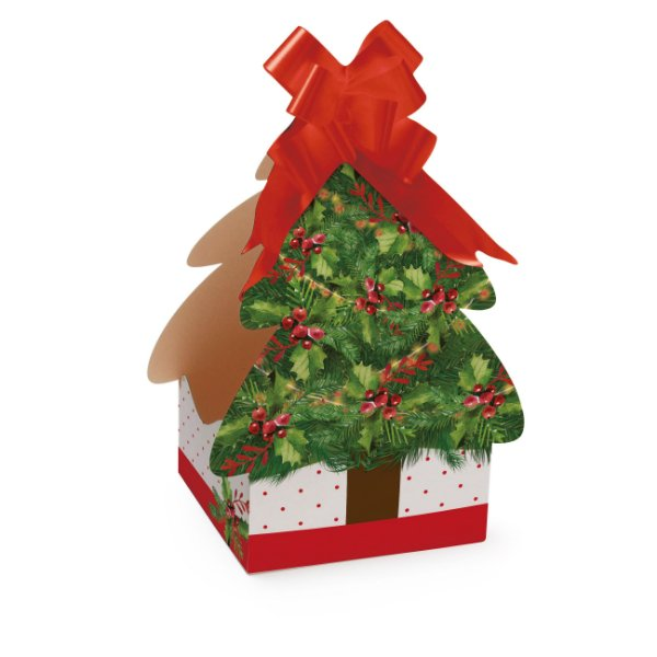 Caixa Panetone Árvore Harmonia para Panetone 100g - 10 Unidades - Cromus Natal - Rizzo Embalagens