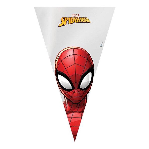 Cone Festa Homem Aranha 18x30cm - 50 unidades - Cromus - Rizzo Embalagens