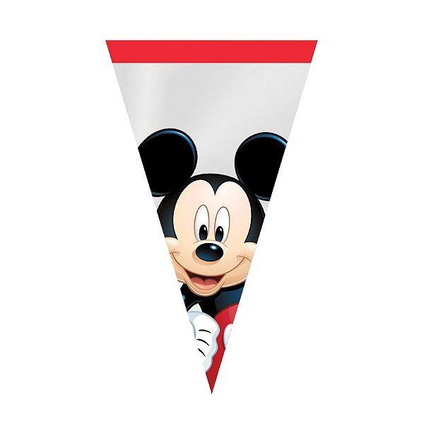 Cone Festa Mickey 18x30cm - 50 unidades - Cromus Páscoa Disney - Rizzo Embalagens