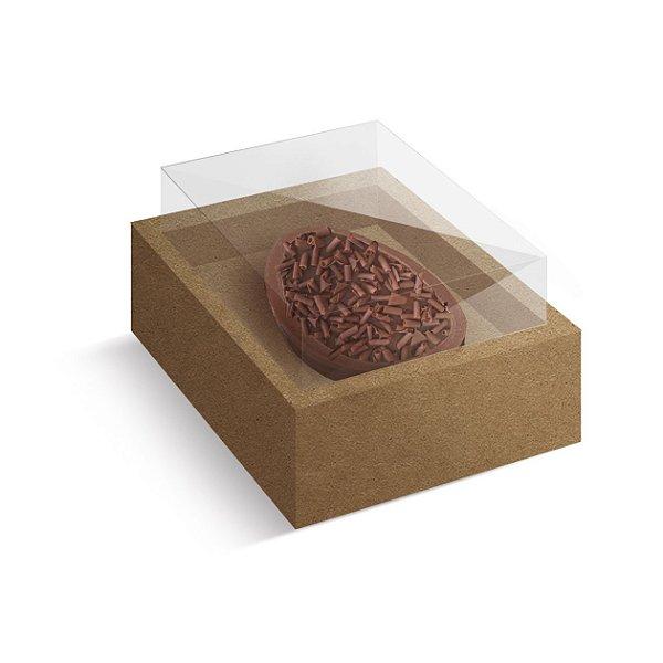 Caixa Ovo de Colher com Moldura Páscoa Kraft - 10 unidades - Cromus Profissional - Rizzo Embalagens
