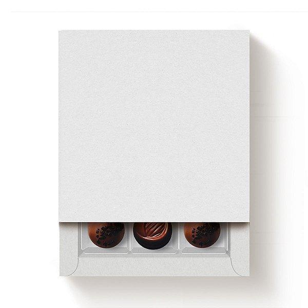 Caixa Quadrada para 9 Doces Branco com Luva - 10 unidades - 13x13x4cm - Cromus Profissional - Rizzo Embalagens