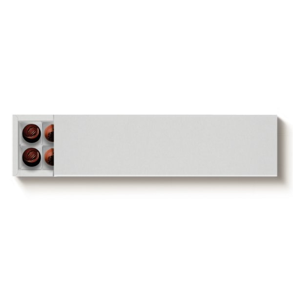 Caixa Retangular para 20 Doces Branco com Luva - 10 unidades - 39x9,5x4cm - Cromus Profissional - Rizzo Embalagens