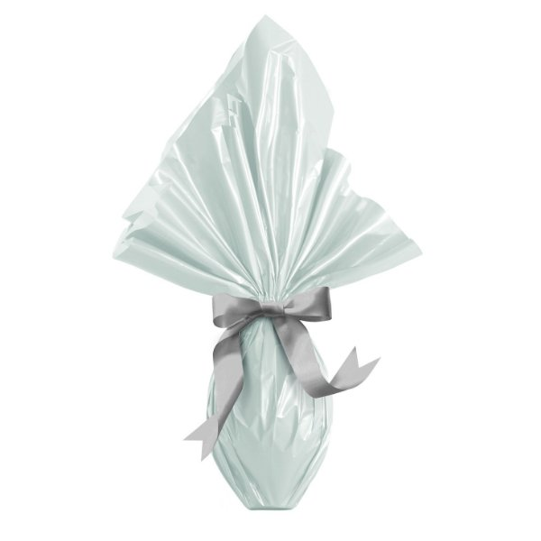Saco Express Branco Perolado Liso para Ovos de 250g até 500g - 05 unidades - Cromus Páscoa - Rizzo Embalagens