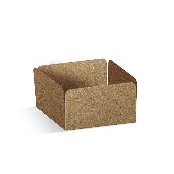 Forminha Reta para Pão de Mel Kraft  - 100 unidades - 7,3x7,3x3,5cm - Cromus Profissional - Rizzo Embalagens
