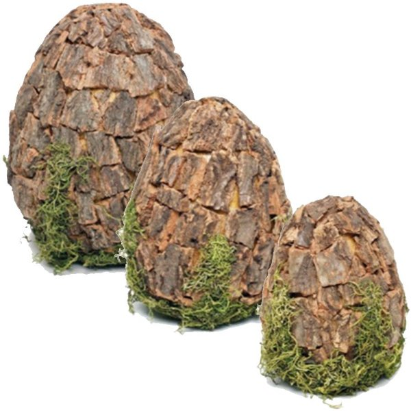 Ovo Decorativo em Madeira Rústico - Linha Rustic - Cromus Páscoa - Rizzo Embalagens