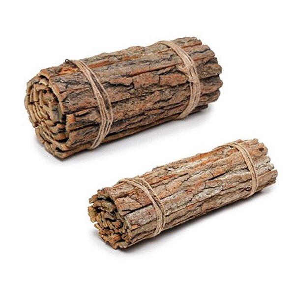 Lenha Decorativa em Madeira Rústica - Linha Rustic - Cromus Páscoa - Rizzo Embalagens