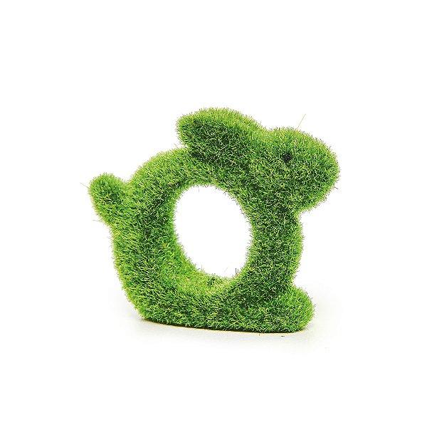 Argola para Guardanapo Coelho Rústico Verde - 4 unidades - 5cm x 6cm x 3cm - Cromus Páscoa - Rizzo Embalagens