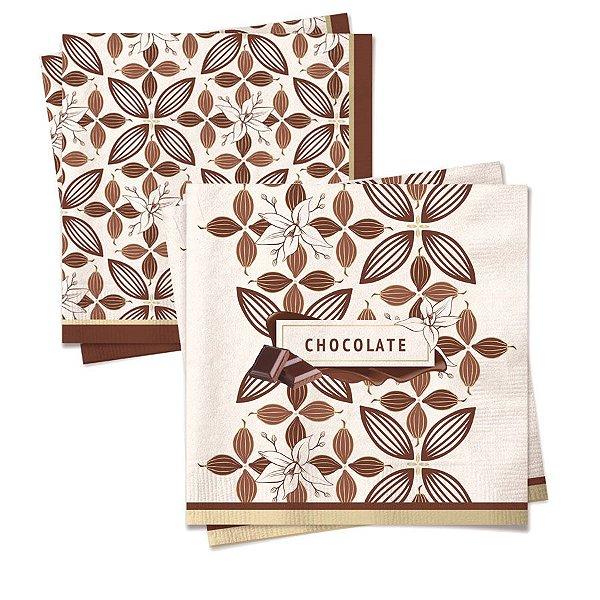 Guardanapo de Papel Chocolate Composê - 20 folhas - Cromus Páscoa - Rizzo Embalagens