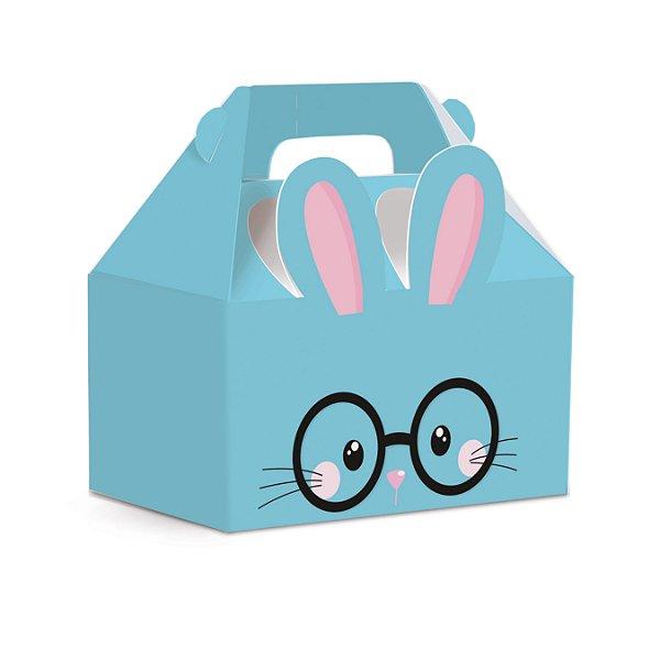 Caixa Maleta Kids Páscoa Play Azul - 10 unidades - Cromus Páscoa - Rizzo Embalagens