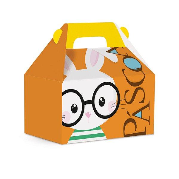 Caixa Maleta Kids Páscoa Cores Laranja - 10 unidades - Cromus Páscoa - Rizzo Embalagens