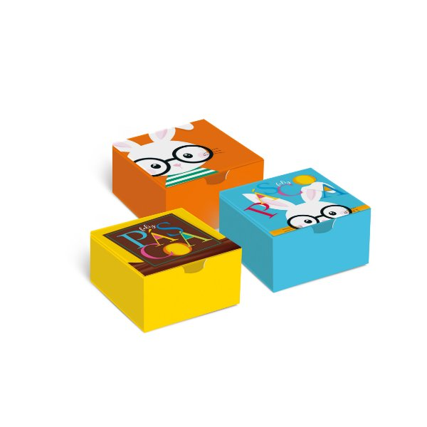 Caixa Divertida Páscoa Cores - Sortido - 10 unidades - Cromus - Rizzo Embalagens
