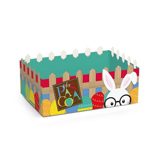 Cesta Cerquinha de Papel Cartão Páscoa Cores - 01 unidade - Cromus Páscoa - Rizzo Embalagens