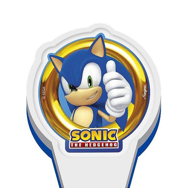 Vela Festa Sonic - Regina Festas - Rizzo Embalagens e Festas