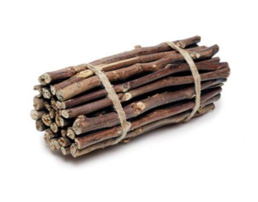 Lenha Decorativa em Madeira - 10cm x 30cm x 10cm - 1 unidade  - Cromus Páscoa - Rizzo Embalagens