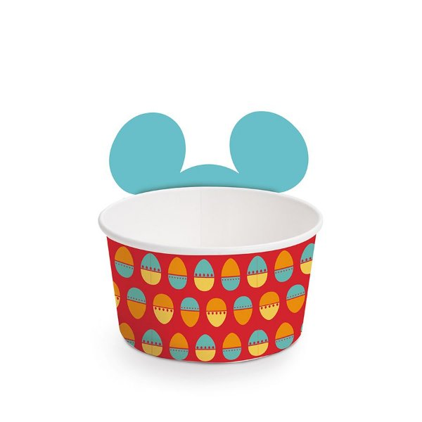 Copinho para Doces 100ml Páscoa Mickey Disney - 08 unidades - Cromus Páscoa Disney - Rizzo Embalagens
