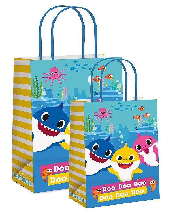 Sacola de Papel Baby Shark - 10 unidades - Cromus Embalagens