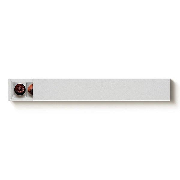 Caixa 10 Doces Retangular Branco com Luva - 10 unidades - 39x6x4cm - Cromus Profissional