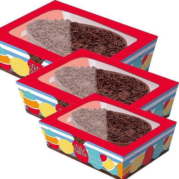 Caixa Practice para Meio Ovo Adoleta - 06 unidades - Cromus Páscoa - Rizzo Embalagens