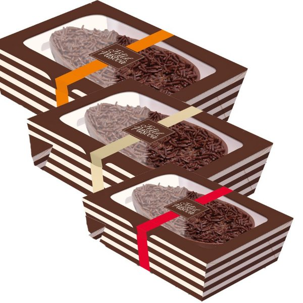 Caixa Practice para Meio Ovo Hit Sortido - 06 unidades - Cromus Páscoa - Rizzo Embalagens