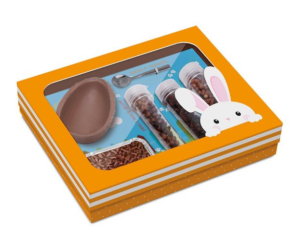 Kit Confeiteiro Páscoa Adoleta 150g - 24x19,5x5cm - 01 unidade - Cromus Páscoa - Rizzo Embalagens