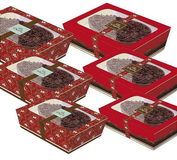 Caixa Practice para Meio Ovo Chocolate Vermelho Sortido - 06 unidades - Cromus Páscoa