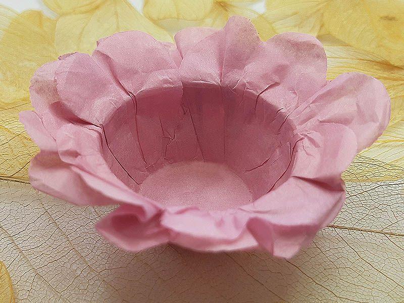 Forminha para Doces Floral em Seda Nude - 40 unidades - Decorart
