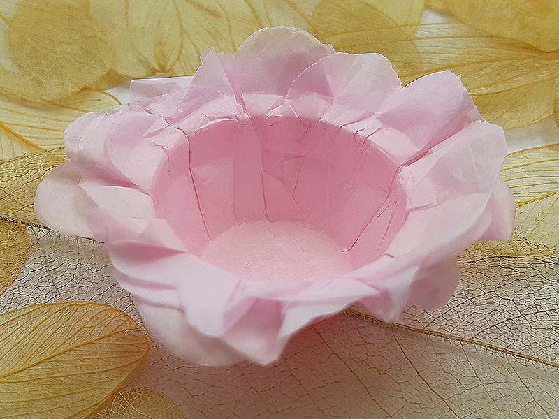 Forminha para Doces Floral em Seda Rosa Bebê - 40 unidades - Decorart - Rizzo Embalagens e Festas